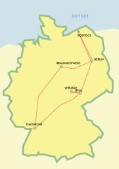 itinerario en tren
