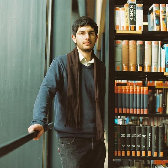 Carlos en la biblioteca de la Universidad Bauhaus de Weimar. Febrero 2013.