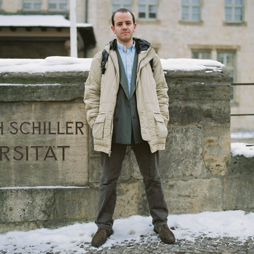 Damián frente a la Schiller Uni Jena. Febrero 2013.