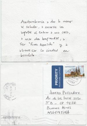 La postal de Julia. Marzo 2013.