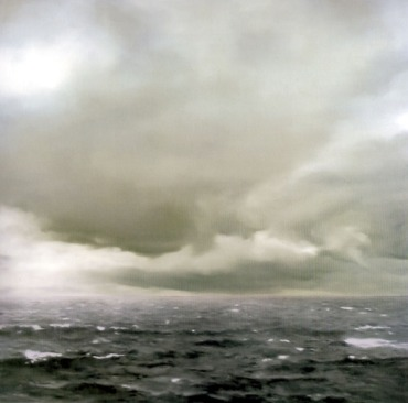 Gerhard Richter, Seascape (Cloudy), 1969 (Oil on canvas)